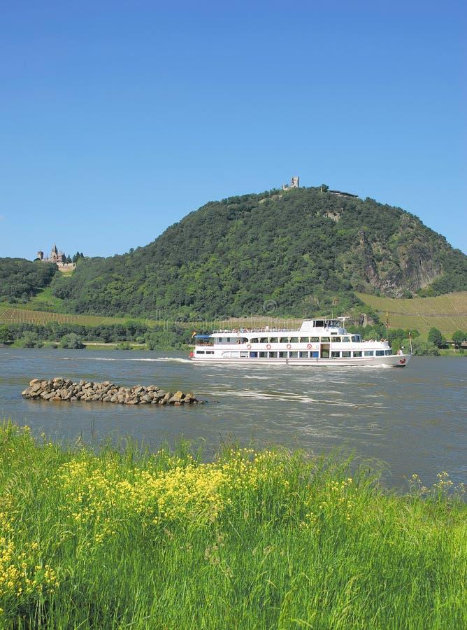 Download Drachenfels Rhein, Rhine Dal, Tyskland Arkivfoto - Bild av palatinate, rhine: 27280086