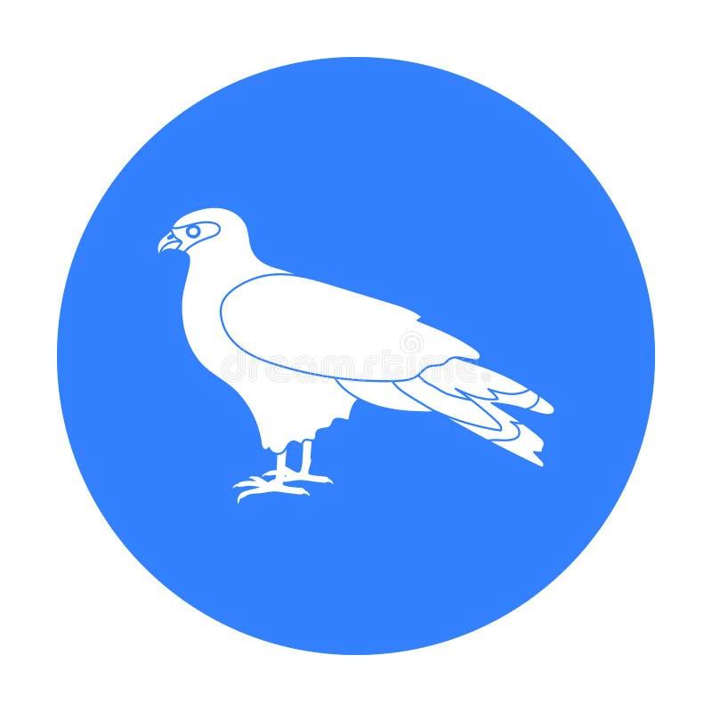 Drachenikone in der schwarzen Art lokalisiert auf weißem Hintergrund Vogelsymbolvorrat-Vektorillustration lizenzfreie abbildung