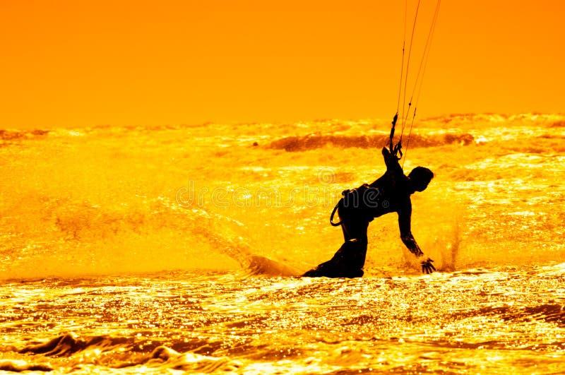 Drachensurfen stockbild