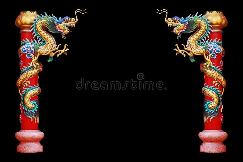 Drachestatue der chinesischen Art stockbild
