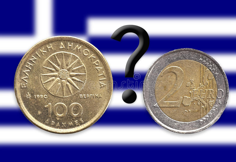 Download Drachma-question-euro stock image. Image of blue, money - 21968681
