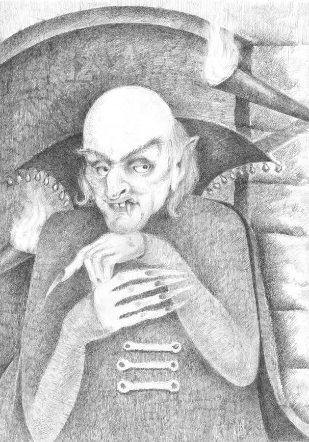 Dracula ilustración del vector
