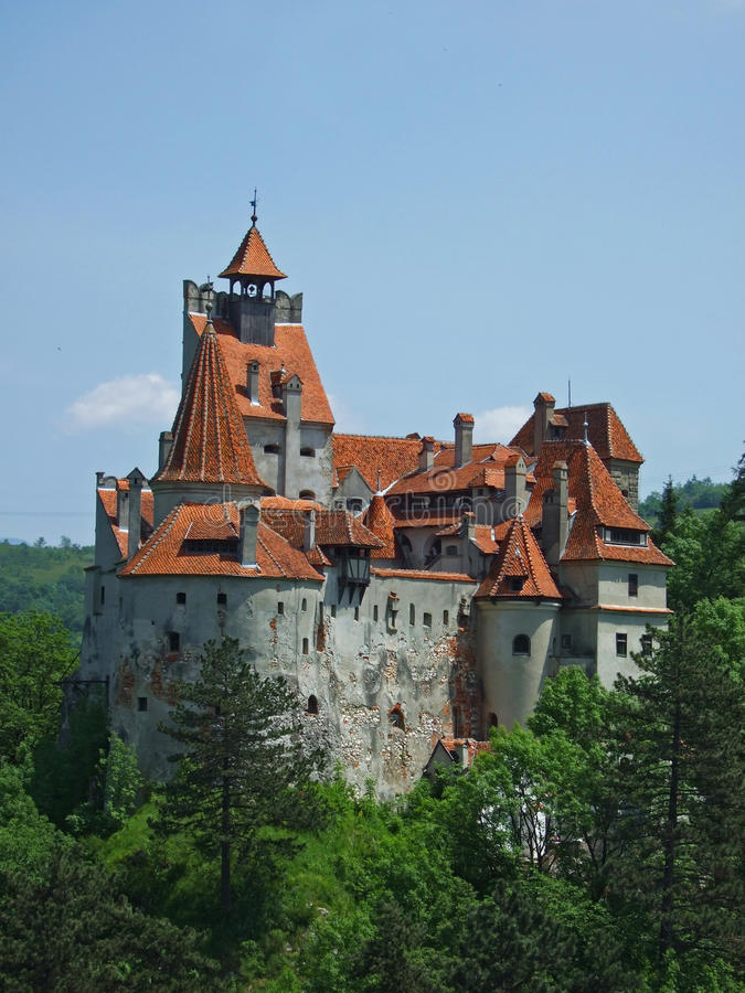 Dracula castle Bran royalty free stock images