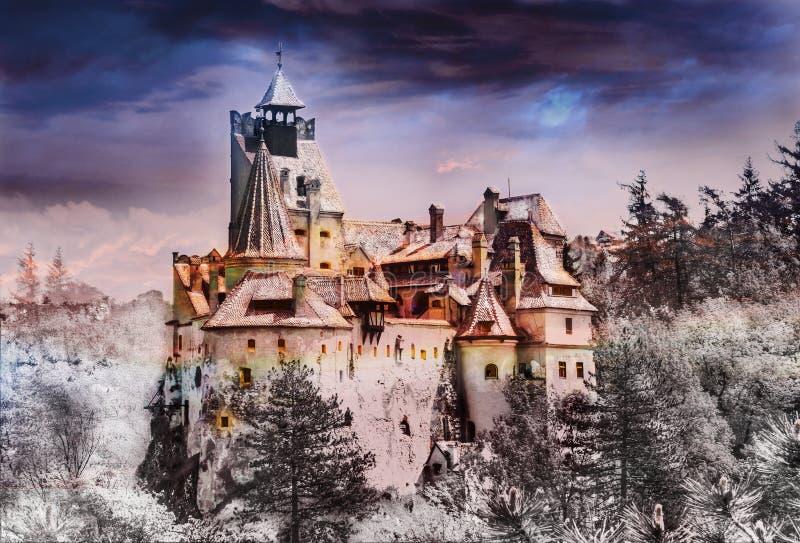 Dracula castle, Bran town royalty free stock photo