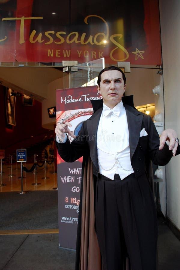 Dracula en señora Tussaud en New York City imágenes de archivo libres de regalías