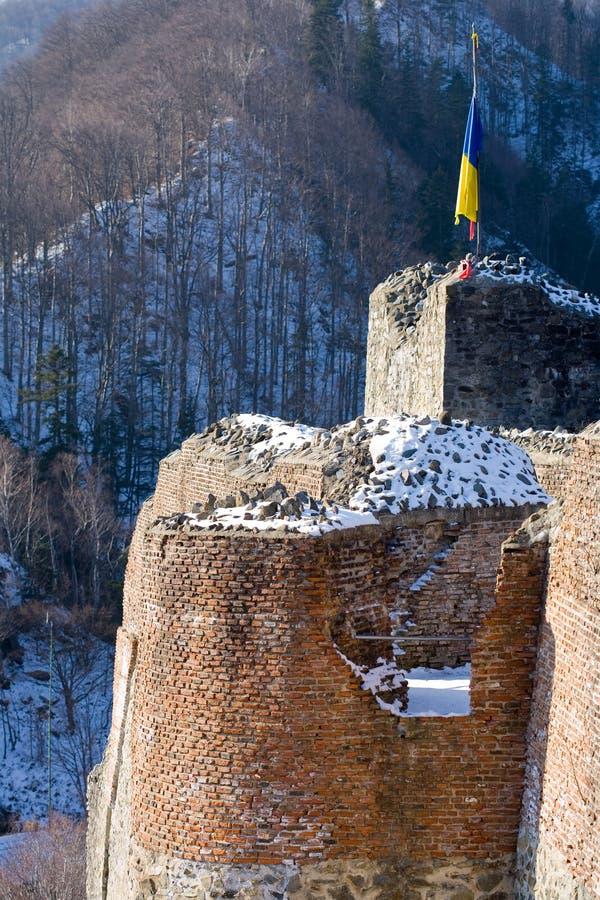 dracula fästning romania s fotografering för bildbyråer