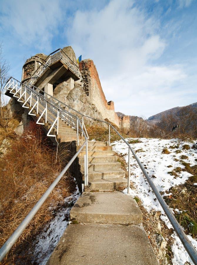 dracula fästningpoienari s royaltyfri fotografi