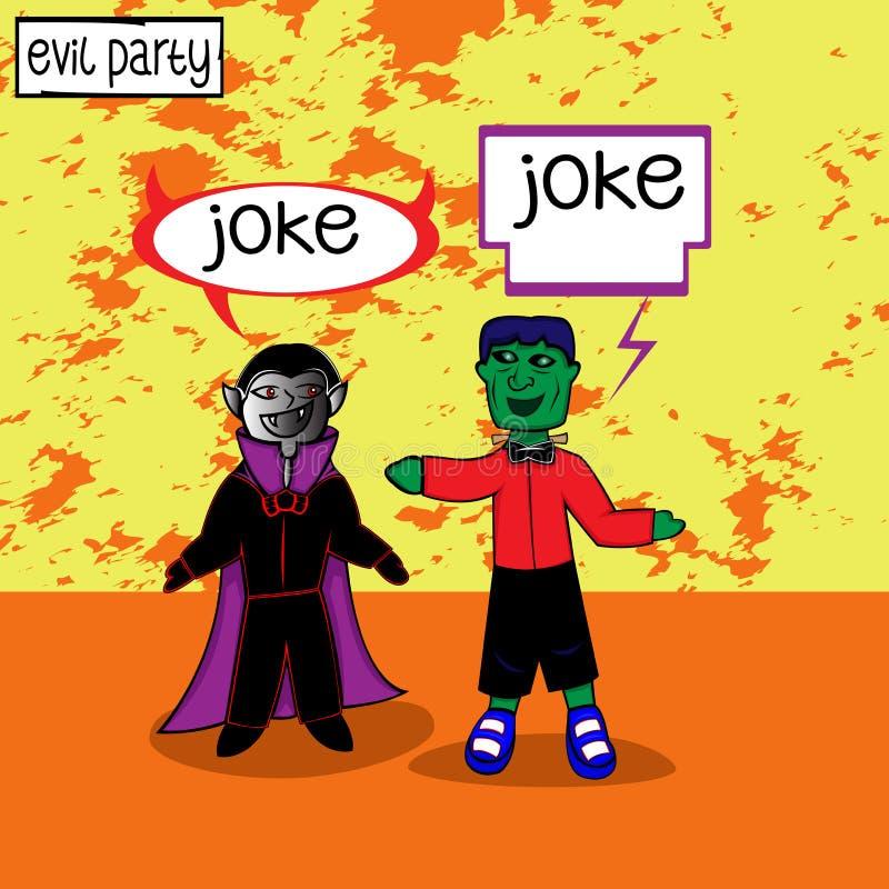 Dracula i Frankenstein spotykamy royalty ilustracja
