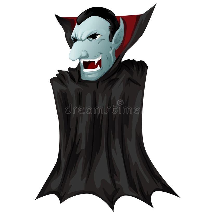 Dracula mismo ilustración del vector
