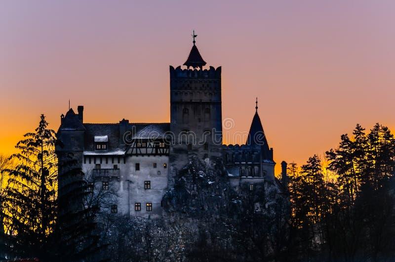 Dracula's Bran Castle in Transylvania stock photo
