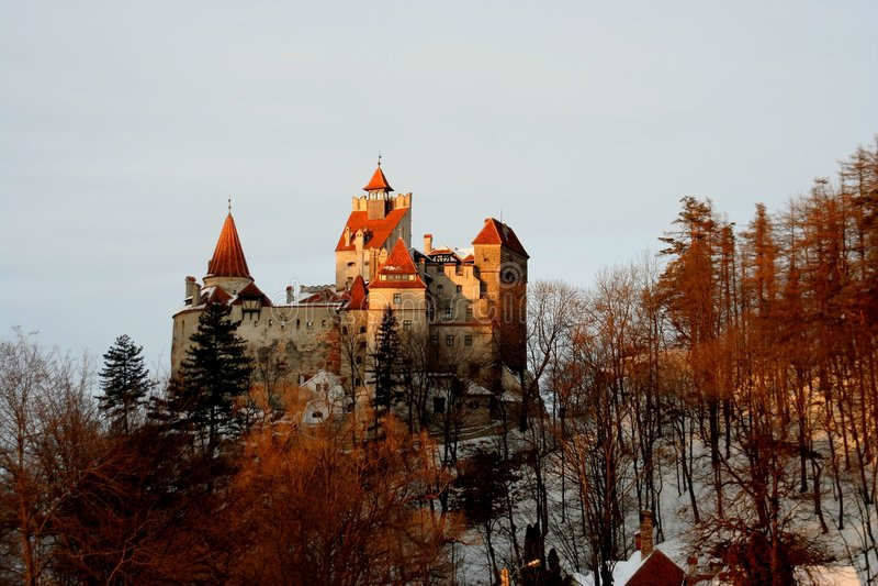 Dracula S Castle - Dusk Stock Photo
