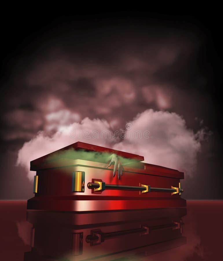 Dracula's coffin vector illustration