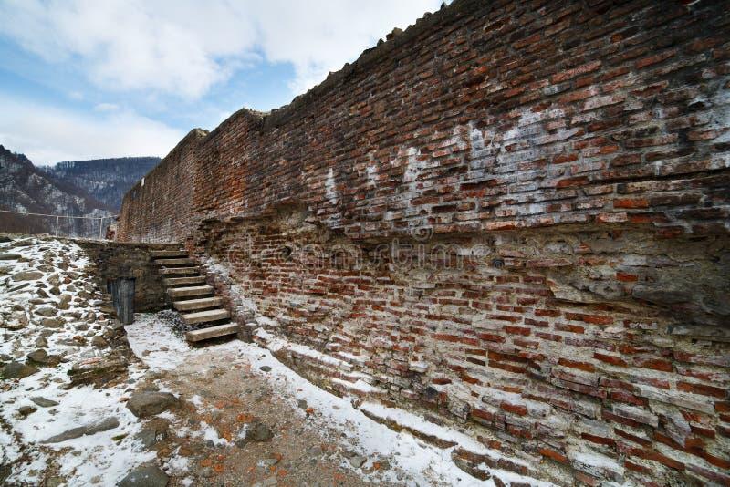 Dracula's fortress at Poienari, royalty free stock photos