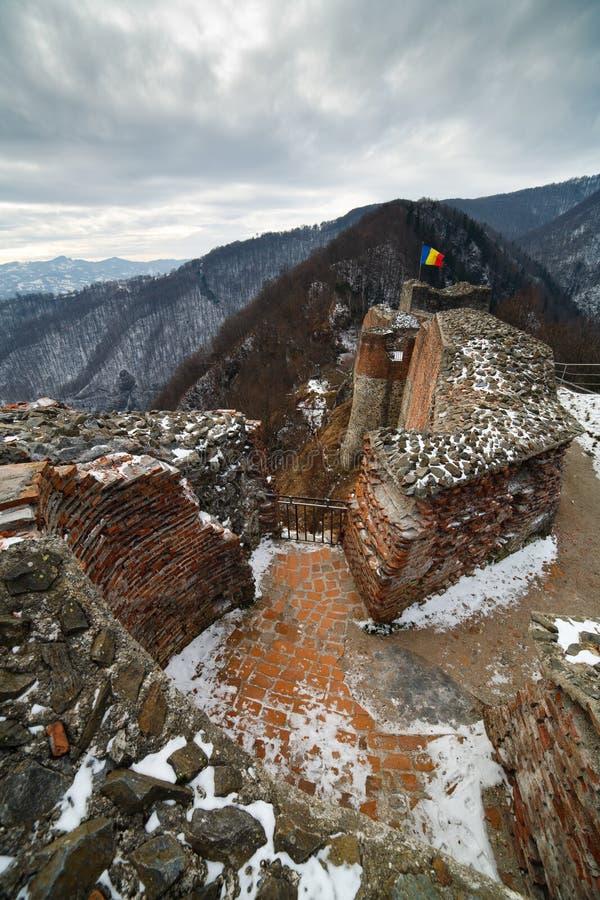 Dracula's fortress at Poienari, stock image