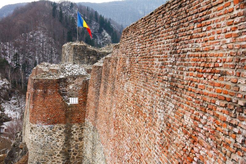 Dracula's fortress at Poienari, royalty free stock images