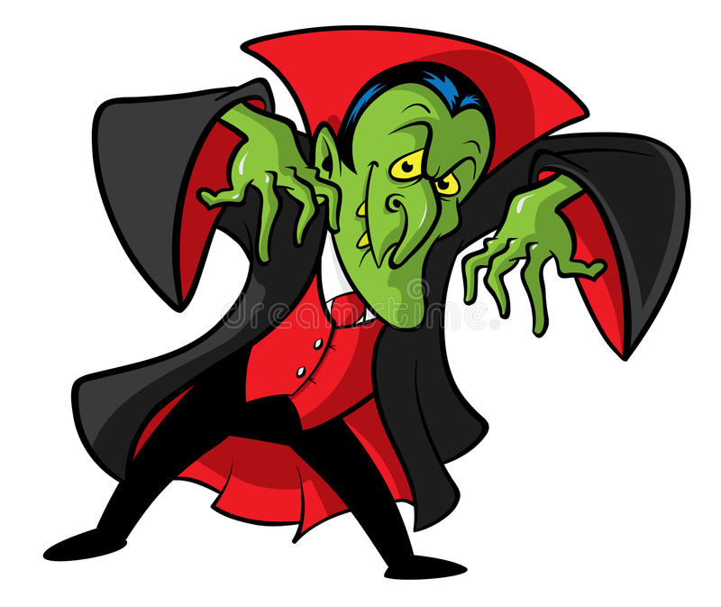 Dracula vampire cartoon illustration. Cartoon illustration of Count Dracula vampire character