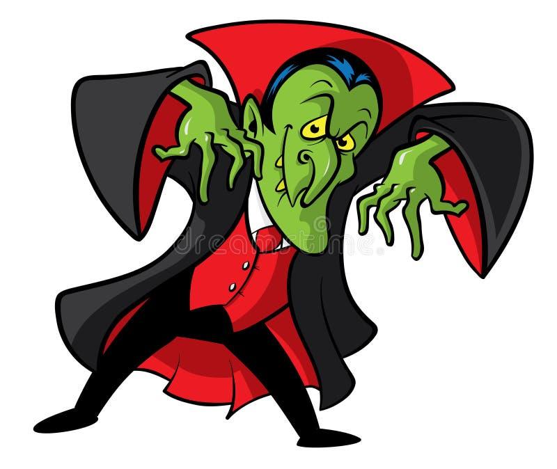 Dracula-Vampirkarikaturabbildung lizenzfreie abbildung