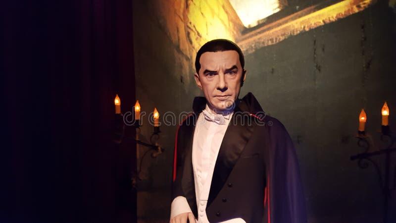 Dracula vaxstaty royaltyfri foto