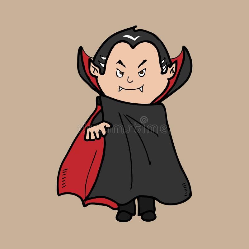 Draculla吸血鬼人妖怪 向量例证
