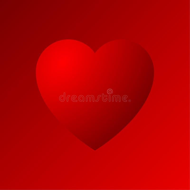 Dradient symbol för röd hjärta vektor illustrationer