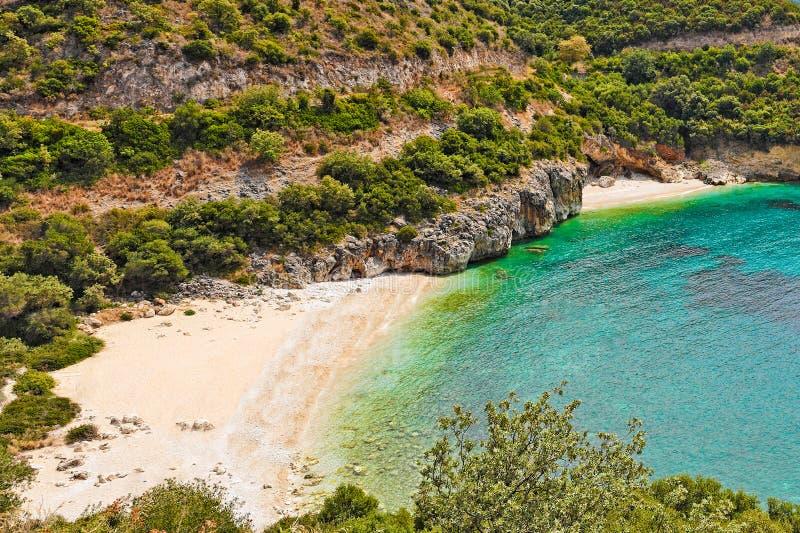 Drafi mega em Syvota, Grécia fotografia de stock