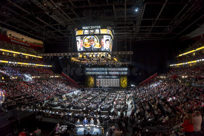 2015 draft del NHL - Zachary Senyshyn - Boston Bruins imagenes de archivo