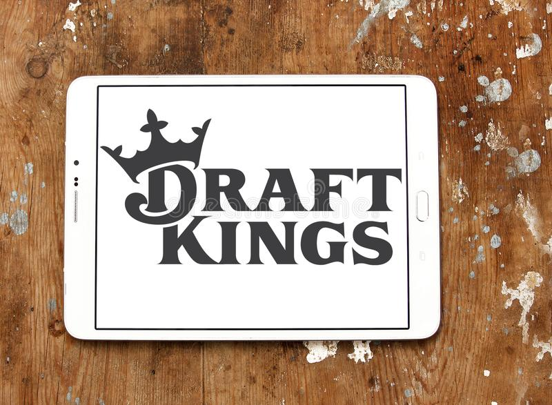 DraftKings fantasy sports company logo. Logo of DraftKings company on samsung tablet. DraftKings is a Boston, MA, daily fantasy sports contest provider. The royalty free stock photo