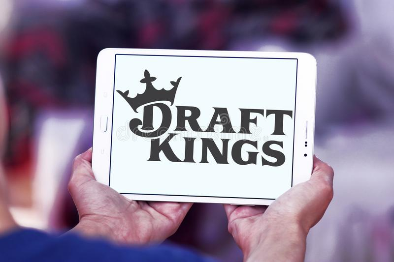 DraftKings fantasy sports company logo. Logo of DraftKings company on samsung tablet. DraftKings is a Boston, MA, daily fantasy sports contest provider. The stock photos