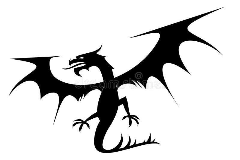 Dragão ilustração stock