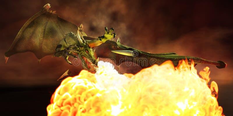 Dragão. ilustração stock