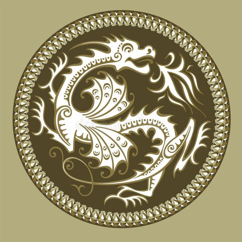 Dragão abstrato do vetor ilustração stock