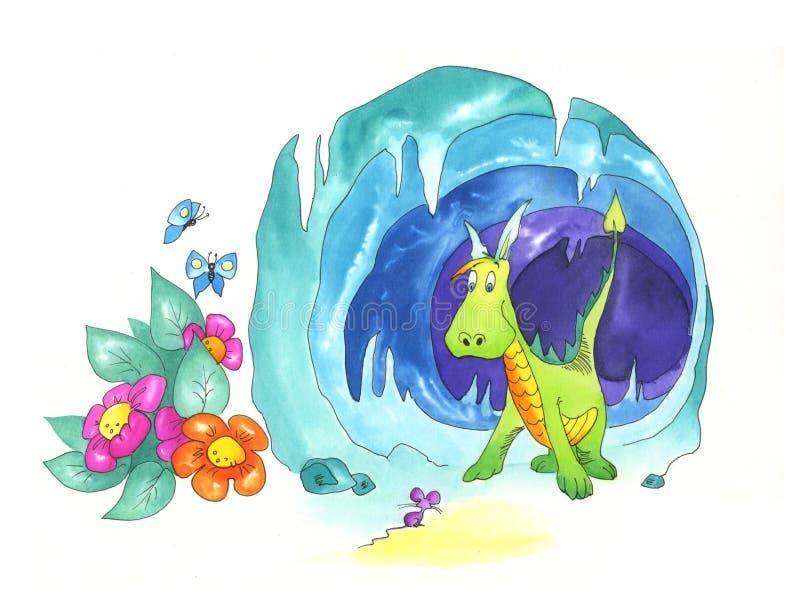Dragão agradável ilustração royalty free