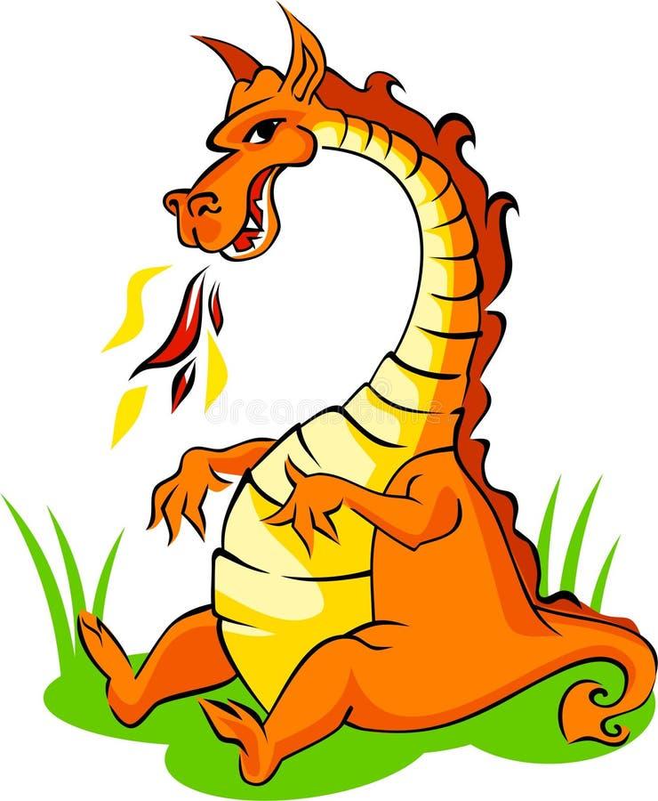 Dragão alaranjado ilustração stock