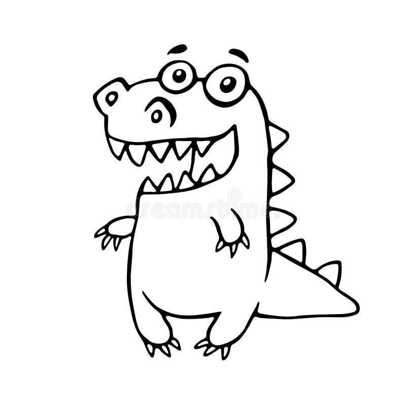 Dragão amigável dos desenhos animados Ilustração do vetor ilustração royalty free