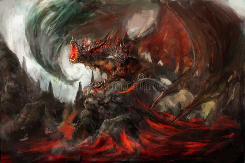 Dragão blindado ilustração royalty free