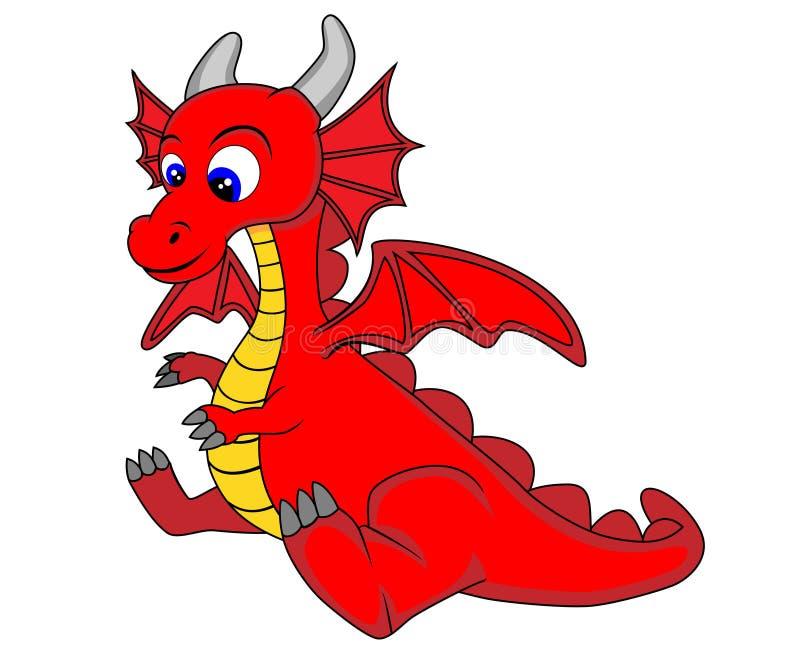 Dragão bonito ilustração royalty free