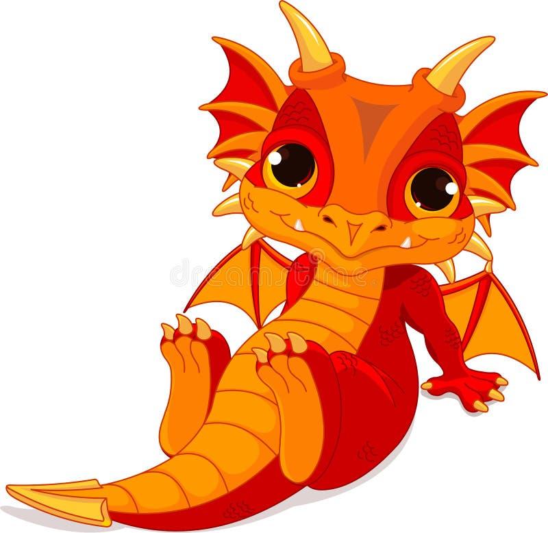 Dragão bonito do bebê ilustração royalty free