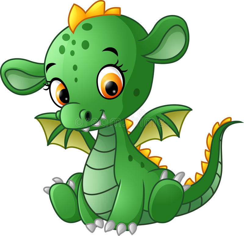 Dragão bonito do bebê ilustração do vetor