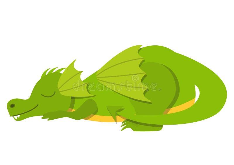 Dragão bonito do sono ilustração royalty free