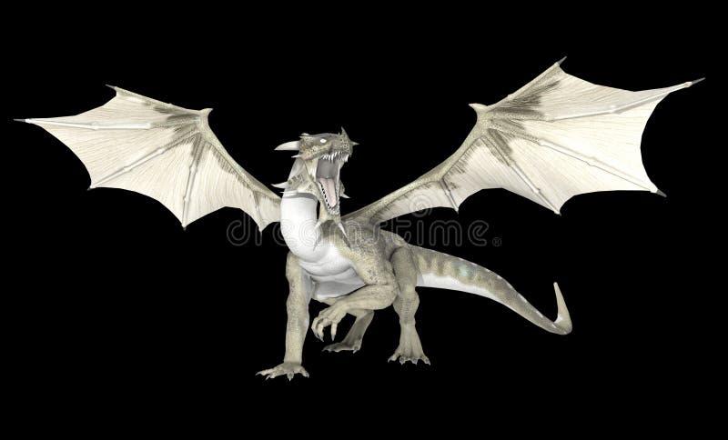 Dragão branco ilustração royalty free