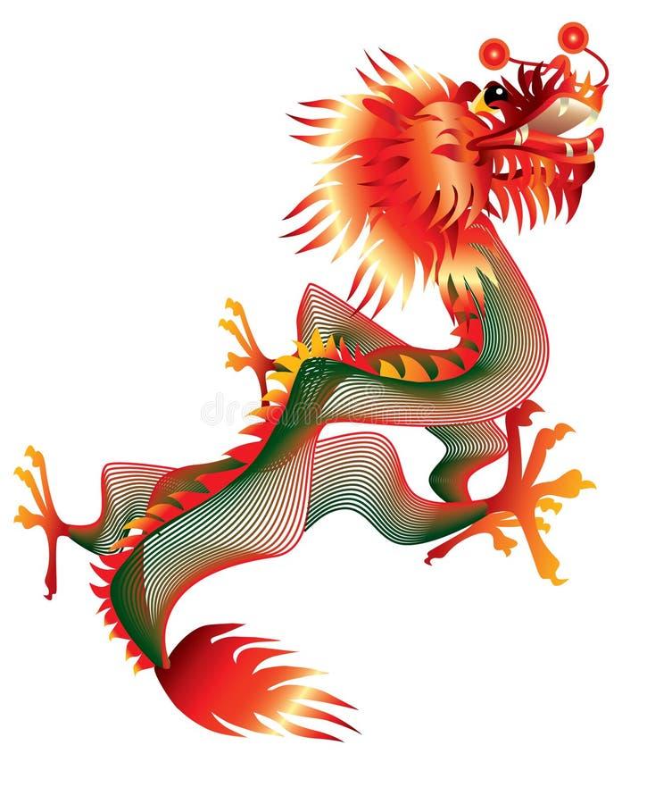 Download Dragão chinês ilustração do vetor. Ilustração de fortuna - 16850595