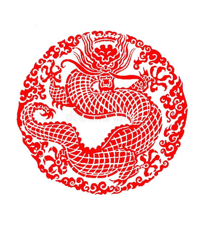 Dragão chinês ilustração royalty free