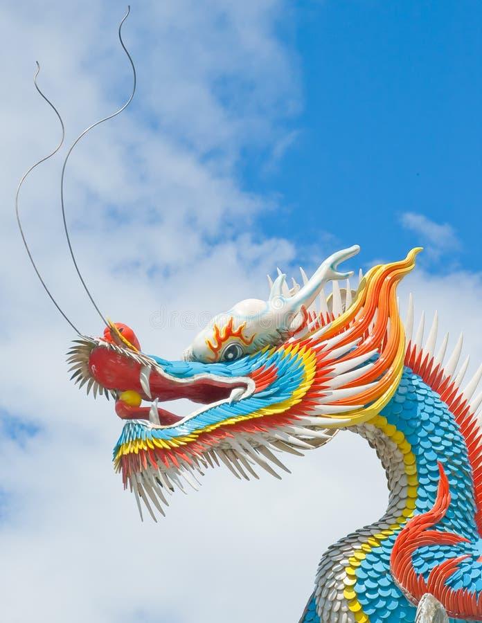 Dragão chinês colorido foto de stock