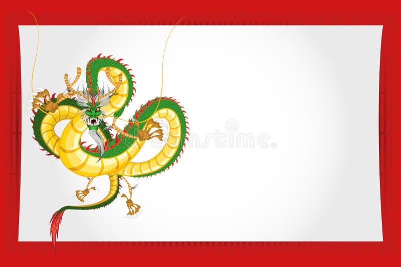 Dragão chinês do cartão do ano novo ilustração stock