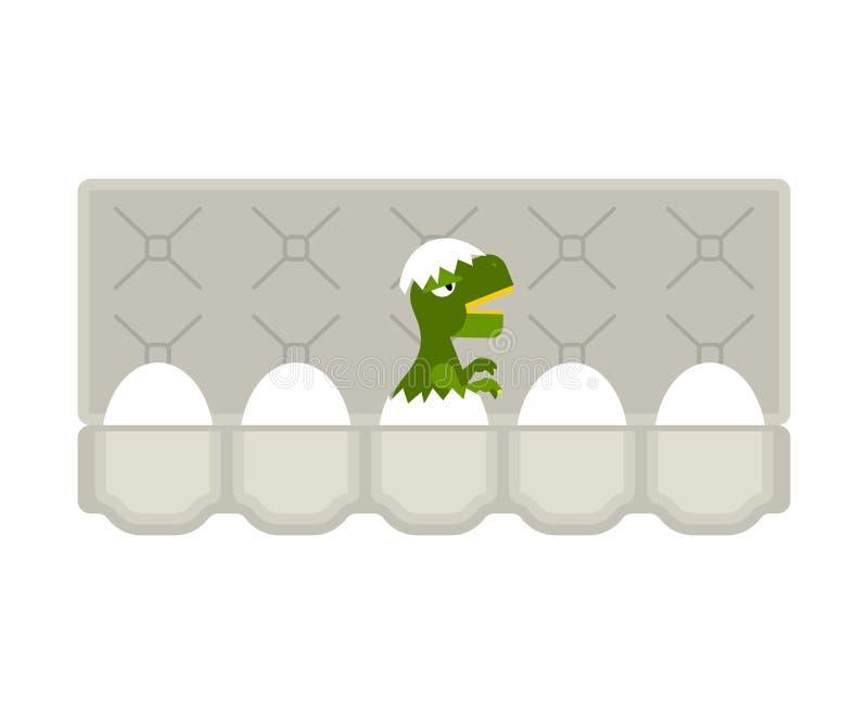 Dragão chocado ovos da embalagem isolado Ilustração do vetor ilustração stock