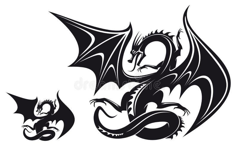 Dragão da fantasia ilustração royalty free