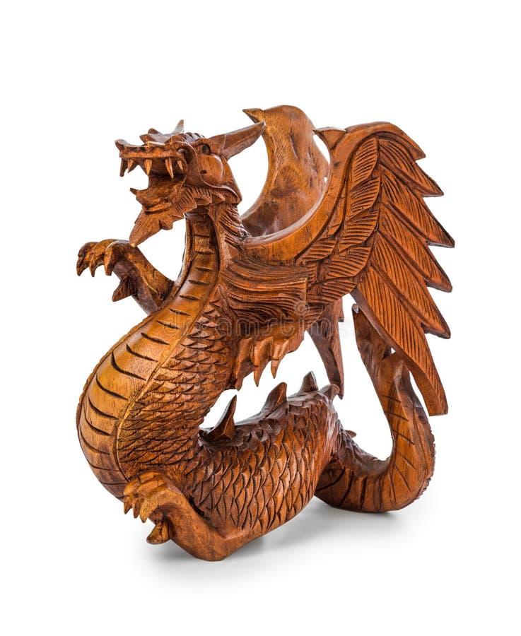 Dragão da madeira do brinquedo imagens de stock royalty free