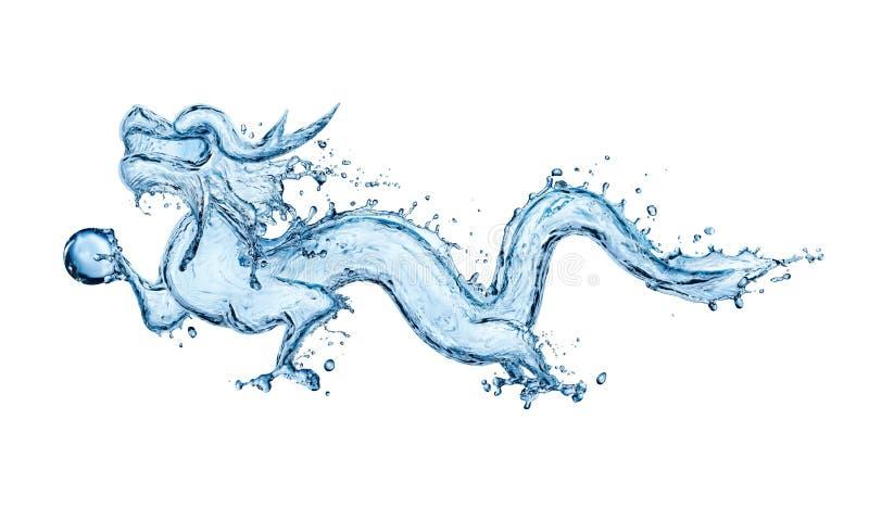 Dragão de água imagens de stock royalty free