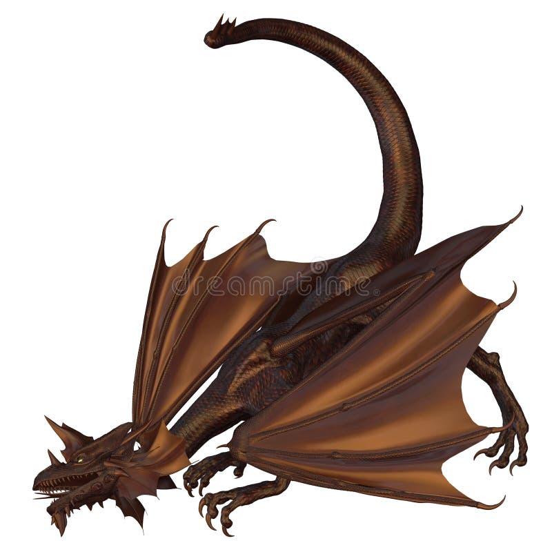 Dragão de bronze ilustração do vetor
