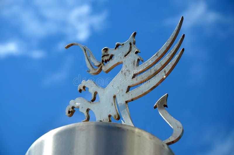 Dragão de Galês do metal imagem de stock